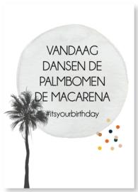 Kaart | Palmbomen dansen de macarena