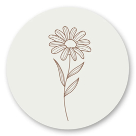 Sticker   Flower   5 stuks