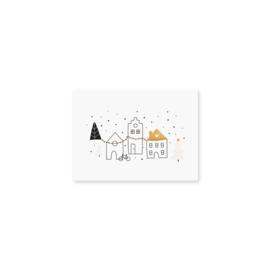 Minikaartje 'kerst dorpje'