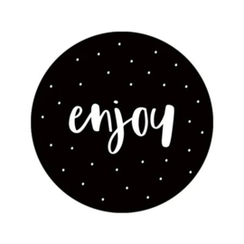 Sluitsticker 'enjoy'