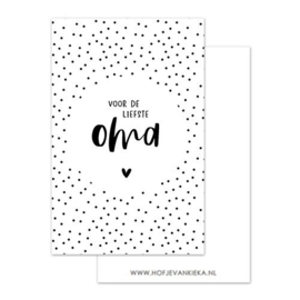 Minikaartje 'voor de liefste oma'