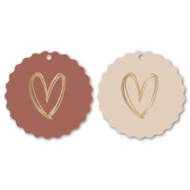 Kadolabels 'duo hearts ' - gold