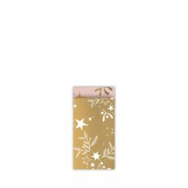 Kadozakje 'mistletoe goud' - 7 x 13 cm