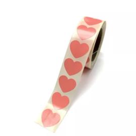 Sluitsticker 'heart neon' - 5 cm