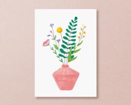 Kaart 'veldbloemen'