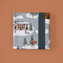 Kadopapier 'Kerstlandschap' - 2 meter