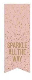 Sluitsticker vaantje  'sparkle'