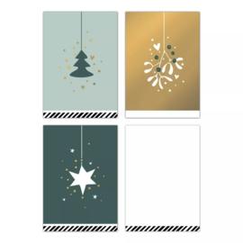 Minikaartjes 'vintage Christmas'