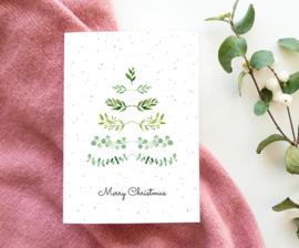 Kerstkaart 'kerstboom'