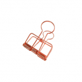 Binder clips - M  'copper' per 4 stuks