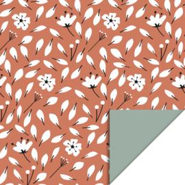 Kadopapier 'flowers' - 3 meter