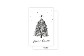 Minikaartje 'fijne kerst'