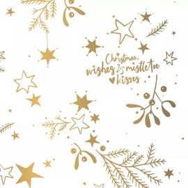 Vloeipapier 'mistletoe' - goud