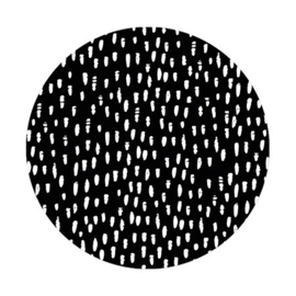 Sluitsticker XL - hand drawn dots - zwart