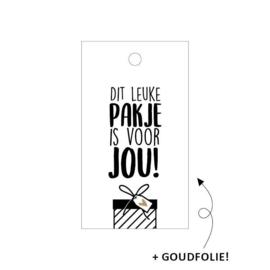 Kadolabel ' Leuk pakje voor jou'