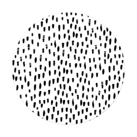 Sluitsticker XL - hand drawn dots - wit