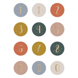 Sluitstickers 'cijfers'