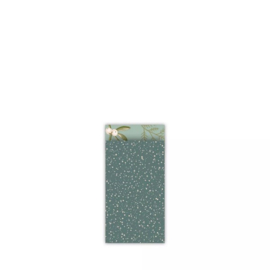 Kadozakje 'twinkling stars groen' - 7 x 13 cm