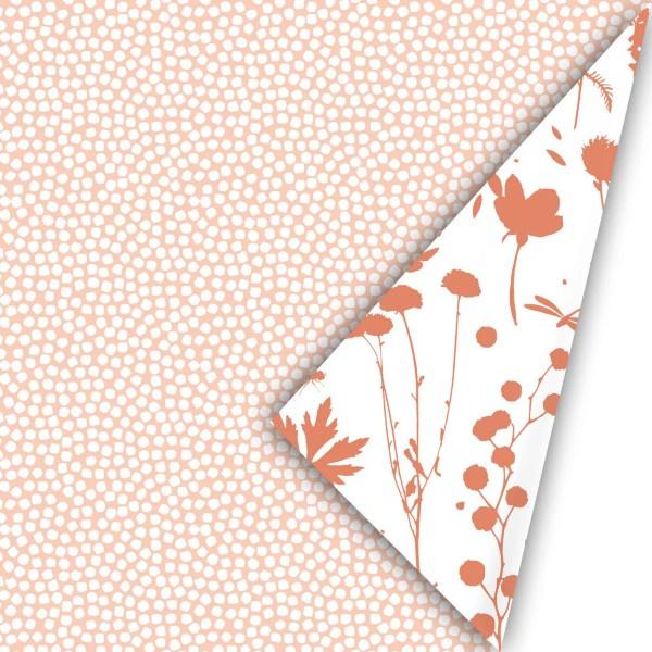Kadopapier 'spring cubes' - peach
