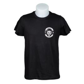 T-shirt Brugge Skull Biker - Zwart