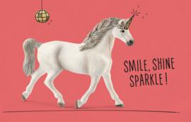 Smile, shine, sparkle! - Wenskaart