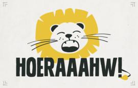 Hoeraaahw! - Wenskaart - Leuke Kaartjes