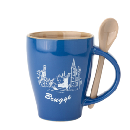 Bruges Cup - Blue with spoon - 2 Designs