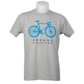 T-shirt Brugge Biketown - Grijs