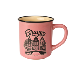 Beker Brugge Retro - Roze
