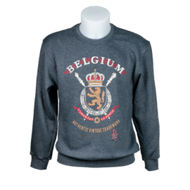 Sweater coat of arms Belgium - Grey
