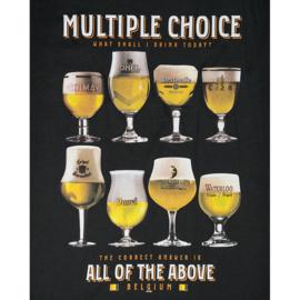 T-shirt Bier Multiple Choice - Zwart