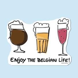 Sticker 'Enjoy the Belgian Life!'