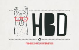 HBD happy birthday - Wenskaart - Leuke Kaartjes