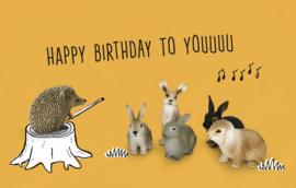 Happy birthday to youuuu - Wenskaart - Leuke Kaartjes