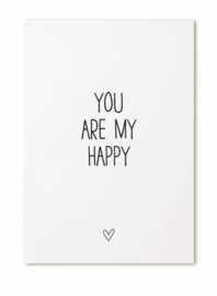 Kaart You are my happy