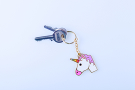 Emoticon Sleutelhanger - Unicorn