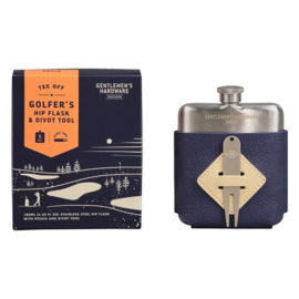 Golfer's hip flask  & divot tool set - Gentlemen's Hardware