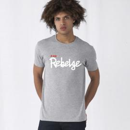 T-Shirt 'Je suis Rebelge' - Grijs