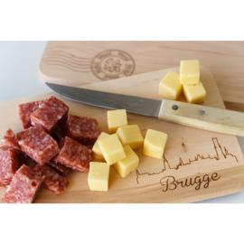 Houten broodplankje Brugge - Zegel