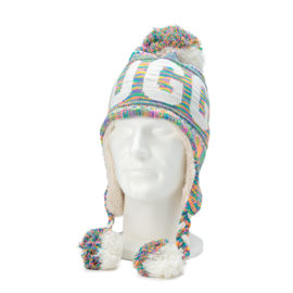 Winter Hat with pompon Brugge - Multi color