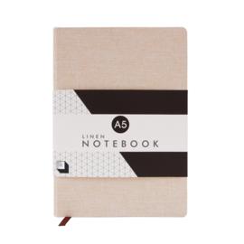 Linen Notebook A5 - Stone - SUCK UK