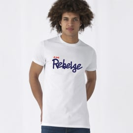 T-Shirt 'Je suis Rebelge' - Wit