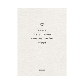 Kaart / There are so many reasons to be happy / papier