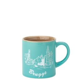 Espresso tas Brugge - Aqua - 2 ontwerpen