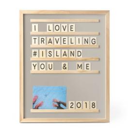 Letter- en Fotobord Memories - Grijs