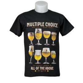 T-shirt Bier Multiple Choice - Black