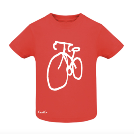 T-Shirt Baby - Fiets - Rood