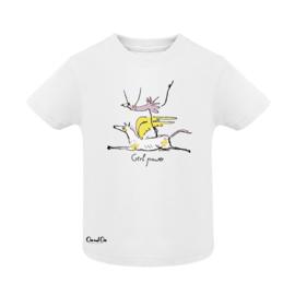 T-Shirt Baby - Girl Power - Wit