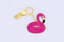 Oversized Flamingo Sleutelhanger