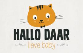 Hallo Daar lieve baby - Wenskaart - Leuke Kaartjes